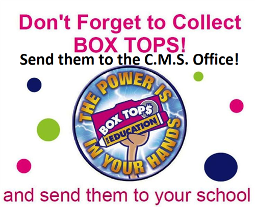 C.M.S. Needs Your Box Tops For Education!