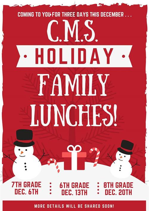 Holiday Family Lunches