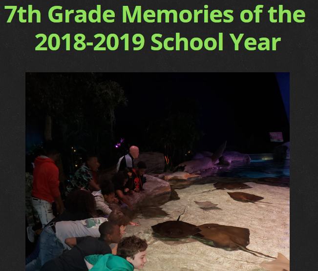 7th Grade End of the Year Slide Presentation